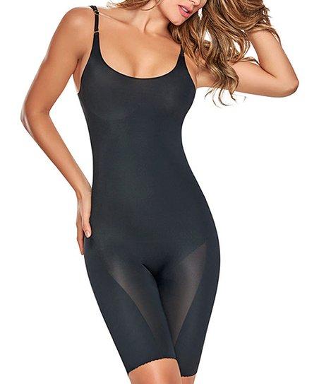 19e0235224 Trueshapers Black Seamless Firm Compression Body Shaper - Women ...