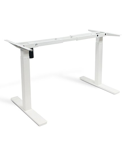 VIFAH White 28'' to 46'' Adjustable Standing Desk Frame