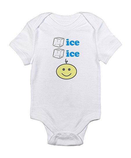 Cloud White Ice Ice Baby Smiley Face Bodysuit Infant Zulily
