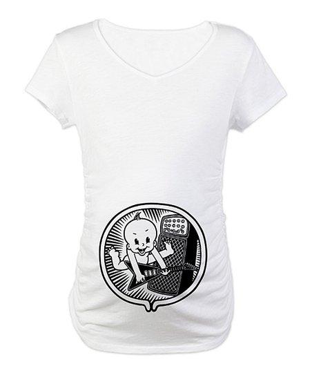 e972089386744 love this product White Rocker Inside Maternity Tee - Women