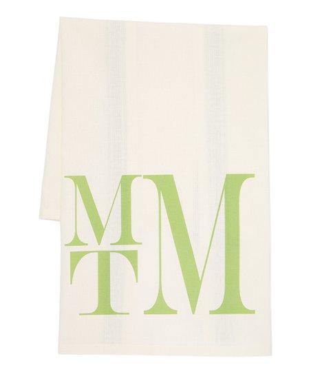 Initial Request Green Monogram Kitchen Towel | Zulily
