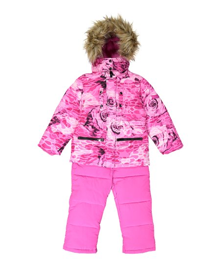 80ecef79e26c Diesel Pink Floral Hooded Jacket   Snowsuit - Toddler   Girls
