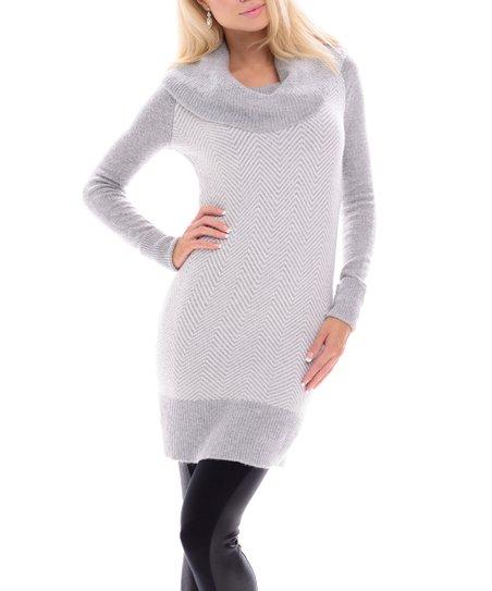 4a434b52f3a Maglia Gray Cowl Neck Sweater Dress