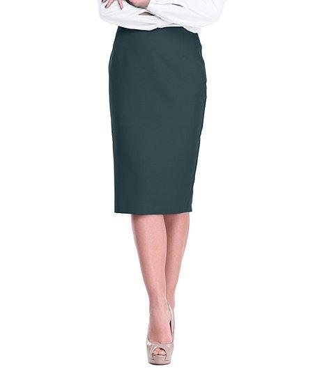 bffbd46d6098 Maurini Dark Emerald Pencil Skirt - Plus Too | Zulily