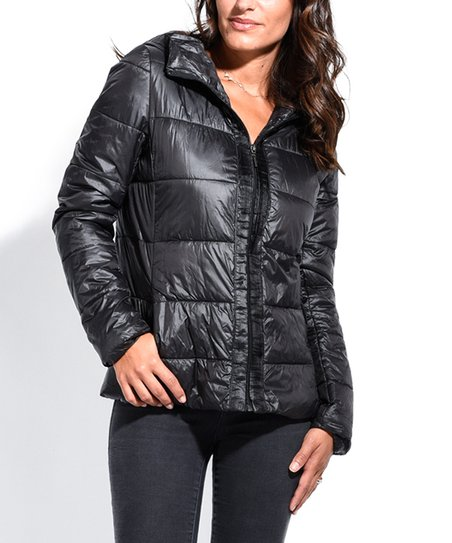 863f23c63 Areline Black Down Hooded Puffer Jacket - Women