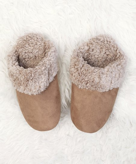 deab37d37 Do Everything In Love Beige Faux Fur-Trim Slippers - Girls