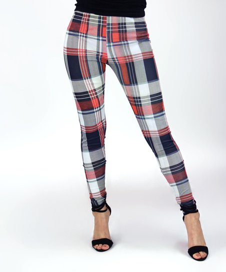 6a8edc8e3d320 love this product Red Plaid Leggings - Women