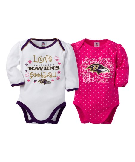 395a996eab love this product Baltimore Ravens Pink Long-Sleeve Bodysuit - Infant