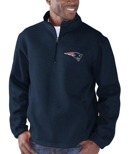 new concept bbb84 c04e0 New England Patriots Quarter-Zip Pullover Jacket - Men's Regular