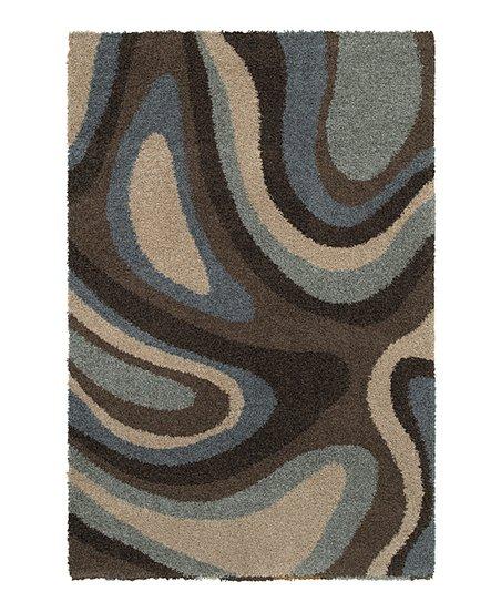Brown U0026 Blue Swirl Rug
