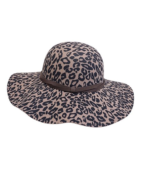 d37a460b04305 love this product Camel Leopard Floppy Hat