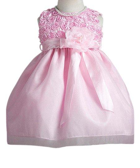 3f6d97dfb5dd Crayon Kids Pink Rosette Sash A-Line Dress - Infant