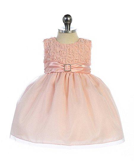 407840e6c02a Crayon Kids Blush Pink Rhinestone Rosette Dress - Infant