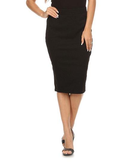 de8a9a8884 Nema Avenue Black Back-Slit Pencil Skirt - Plus Too | Zulily