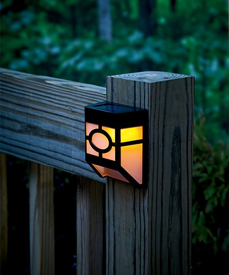deck accent lighting. Mission-Style Solar Deck Accent Lights - Set Of Four Lighting O