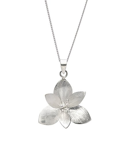 Ag Sterling Jewelry Sterling Silver Lotus Flower Pendant Necklace