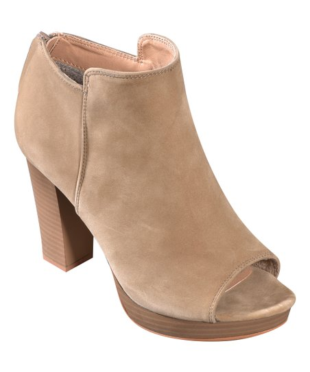 1f094d491989a love this product Taupe Peep-Toe Bootie