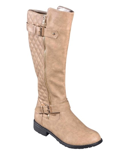 bc5b71167 love this product Khaki Quilted Buckle Boot
