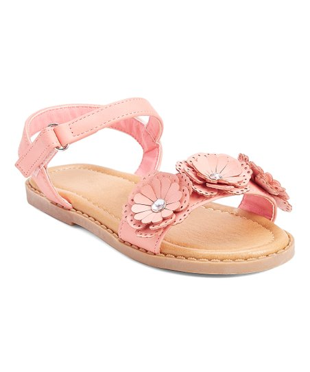 8257e93132f93 Kelly Kids Pink Dixie Flower Ankle Strap Sandal - Girls | Zulily