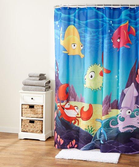 Blue Ocean Life Shower Curtain