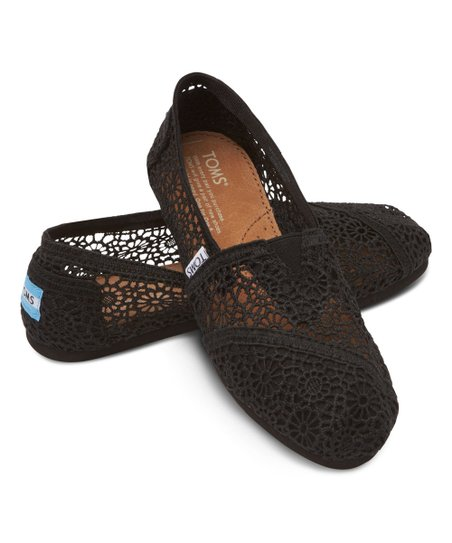 3c193412c47 TOMS Black Morocco Crochet Classics - Women