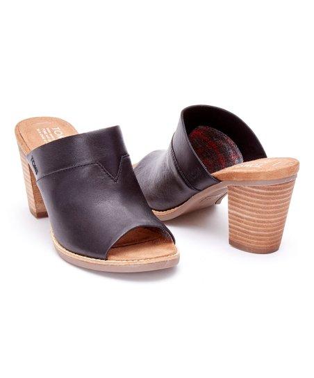 949aad11bf8 TOMS Black Leather Majorca Mule - Women