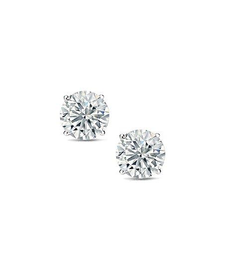 39b72f4e0 Best Silver Kids 14k White Gold Round Stud Earrings With Swarovski ...