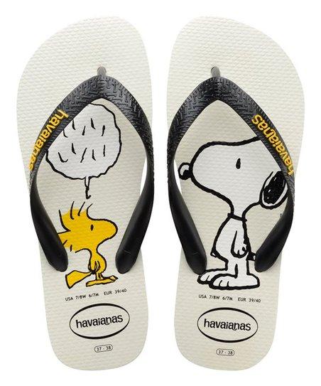 308dbd9a564b7 love this product White   Black Snoopy Flip-Flop - Men