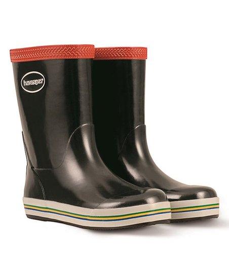 08de56bfe8d love this product Black   Red Aqua Rain Boot - Kids