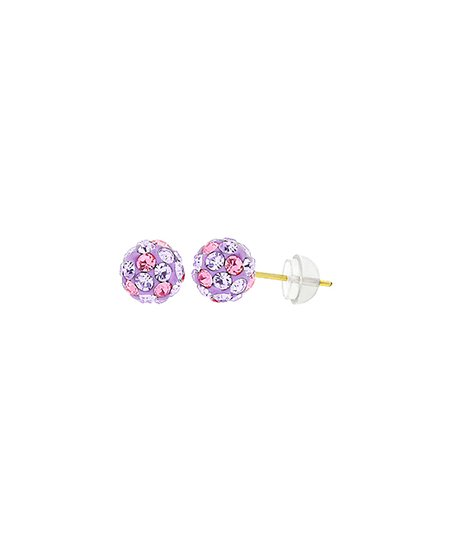 6198f4204 love this product Purple & 14k Gold Ball Stud Earrings With Swarovski®  Crystals