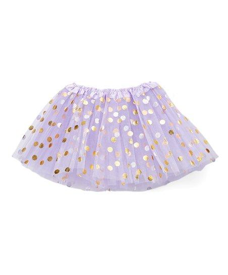 0fba904f5e The Princess Pea Lavender & Gold Polka Dot Tulle Skirt - Infant | Zulily