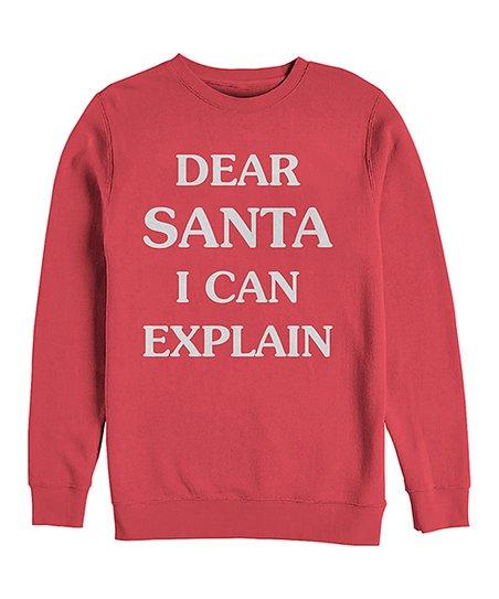 Chin Up Apparel Red Dear Santa I Can Explain Crewneck Sweatshirt