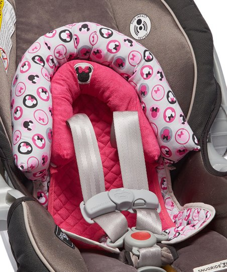 Pink Minnie Infant Car Seat Head Support