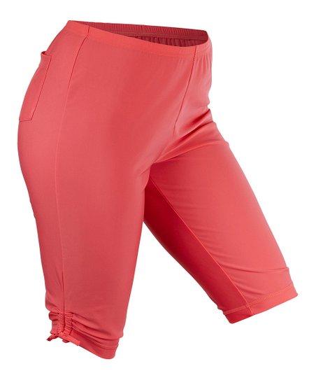 aca876a37f UV Skinz Coral Long Swim Shorts - Women & Plus | Zulily