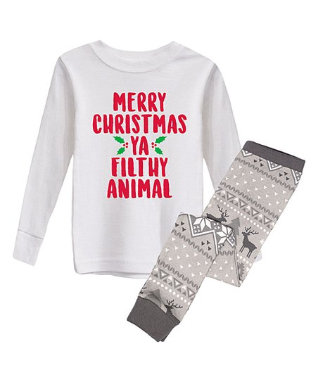 love this product White  Filthy Animal  Pajama Set - Infant 259acf036