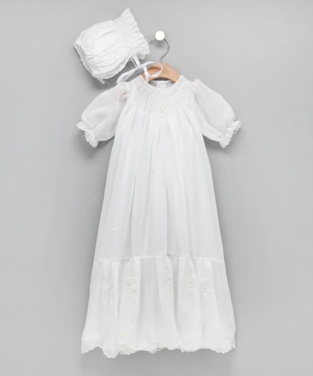a97b98fa0 Fantaisie Kids White Bishop Christening Gown & Bonnet - Infant | Zulily