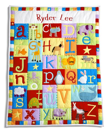 Personal Creations Primary Tone Baby Alphabet Personalized Quilt