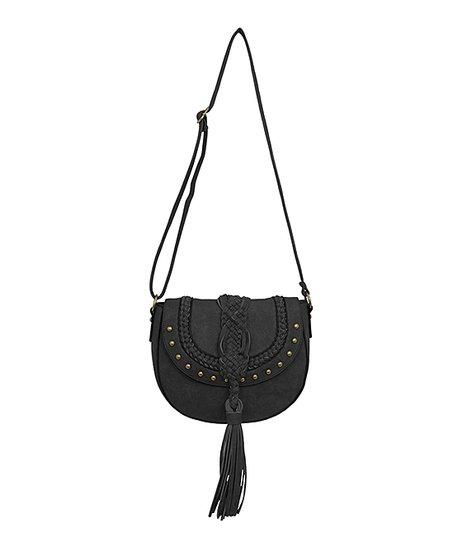4b5649b5e4 Rebecca   Rifka Black Braided Tassel Crossbody Bag