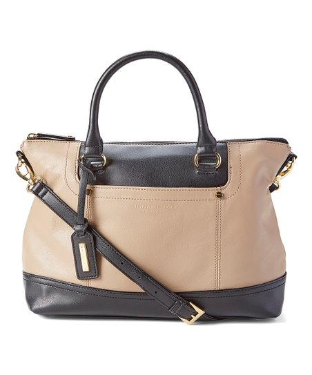 2d274ca945a4 love this product Mushroom   Black Smooth Operator Convertible Leather  Satchel