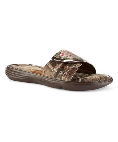 a83d09d9e186 Under Armour® Cleveland Brown Ignite VII Camo Sandal - Girls