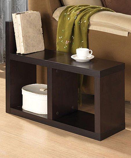 Espresso Camille Bookshelf Side Table