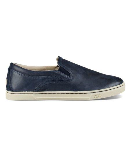 UGG® Navy Fierce Leather Slip-On