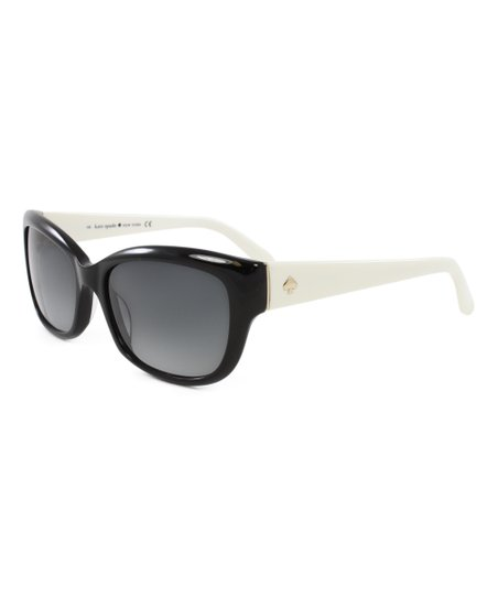764654b42bcc Kate Spade Black & Ivory Johanna Sunglasses | Zulily