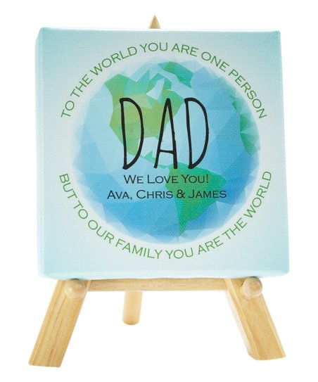 Personal Creations Blue 'We Love You' World Personalized Canvas