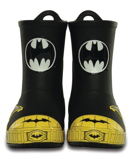 9f737f58f Crocs black batman bump it rain boot zulily jpg 452x543 Batman croc rain  boots