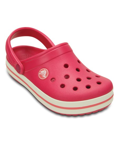 Crocs Raspberry   White Crocband™ Clog - Kids  5b4084309b9