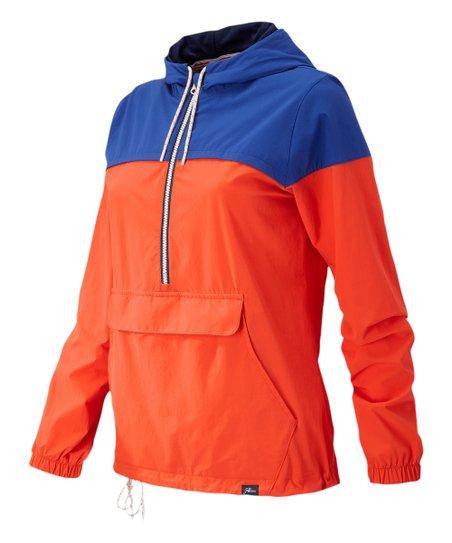 8b31996d love this product Orange & Blue Color-Block '90s Windbreaker Jacket - Women