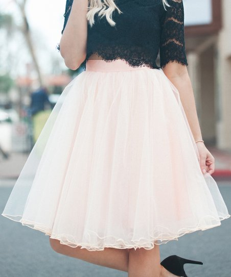 d617a442c Space 46 Boutique Dusty Blush Signature Tulle Skirt | Zulily