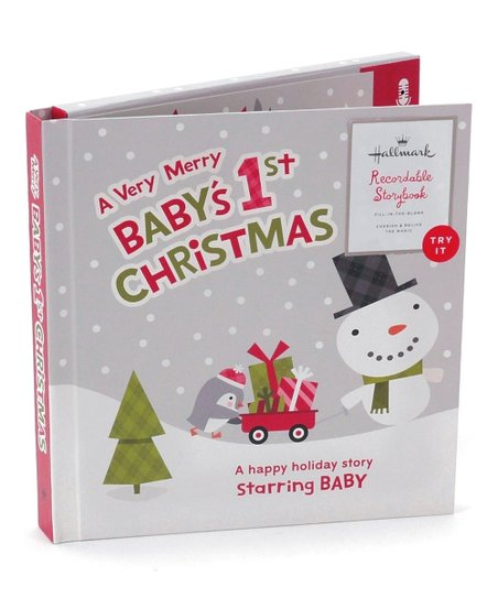 Recordable Christmas Books.Hallmark A Very Merry Baby S 1st Christmas Recordable Memory Book