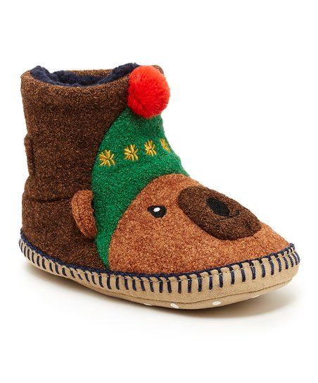 sale uk coupon code skate shoes Hanna Andersson Brown Cozy Bear Karlsson Slipper | Zulily